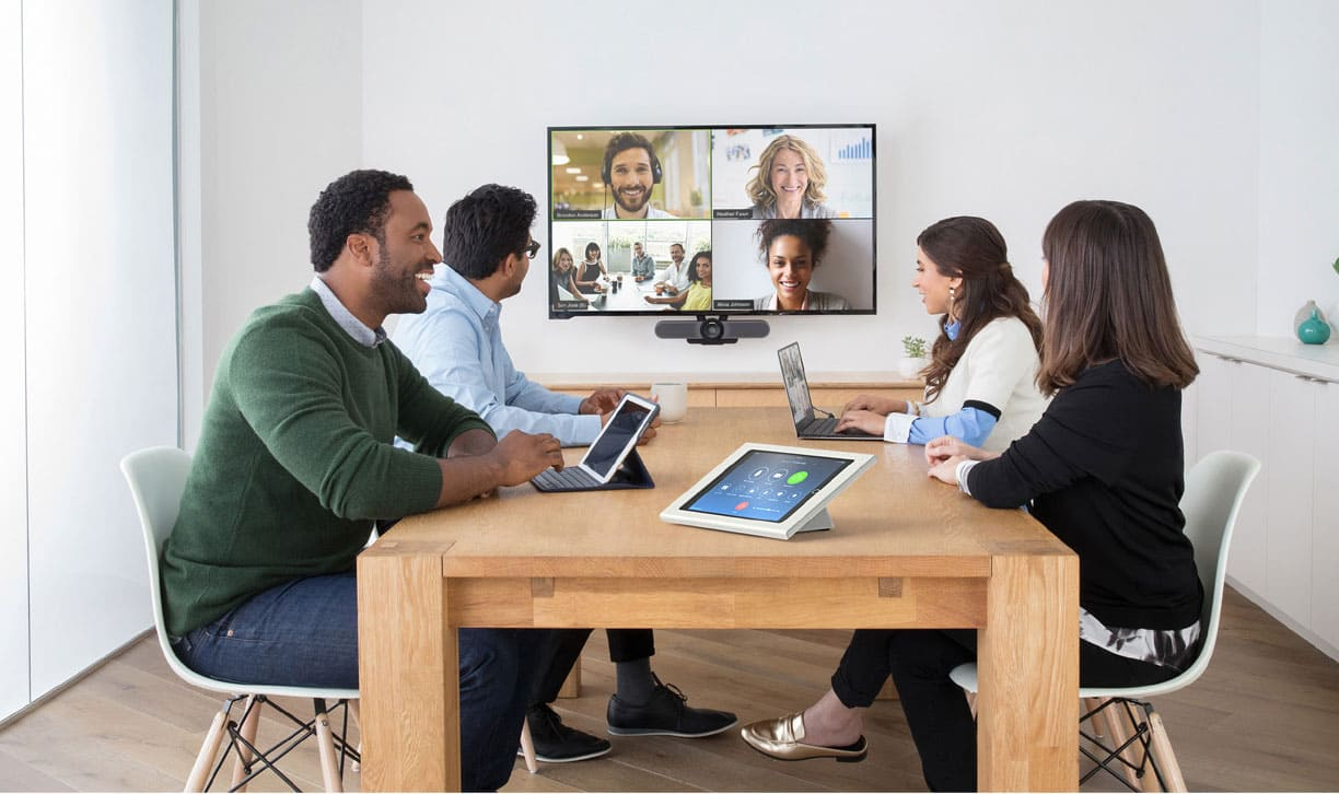 We make videoconferencing as easy as meeting in a room